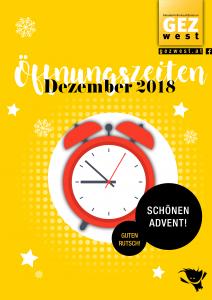 Öffnungzeiten Dezember2018
